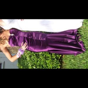 XSCAPE Purple Homecoming/Prom Dress